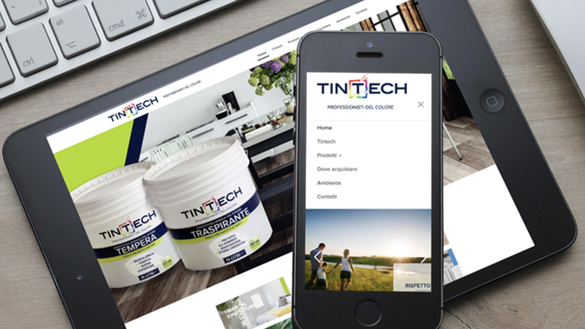 Mockup sito web responsive Tintech