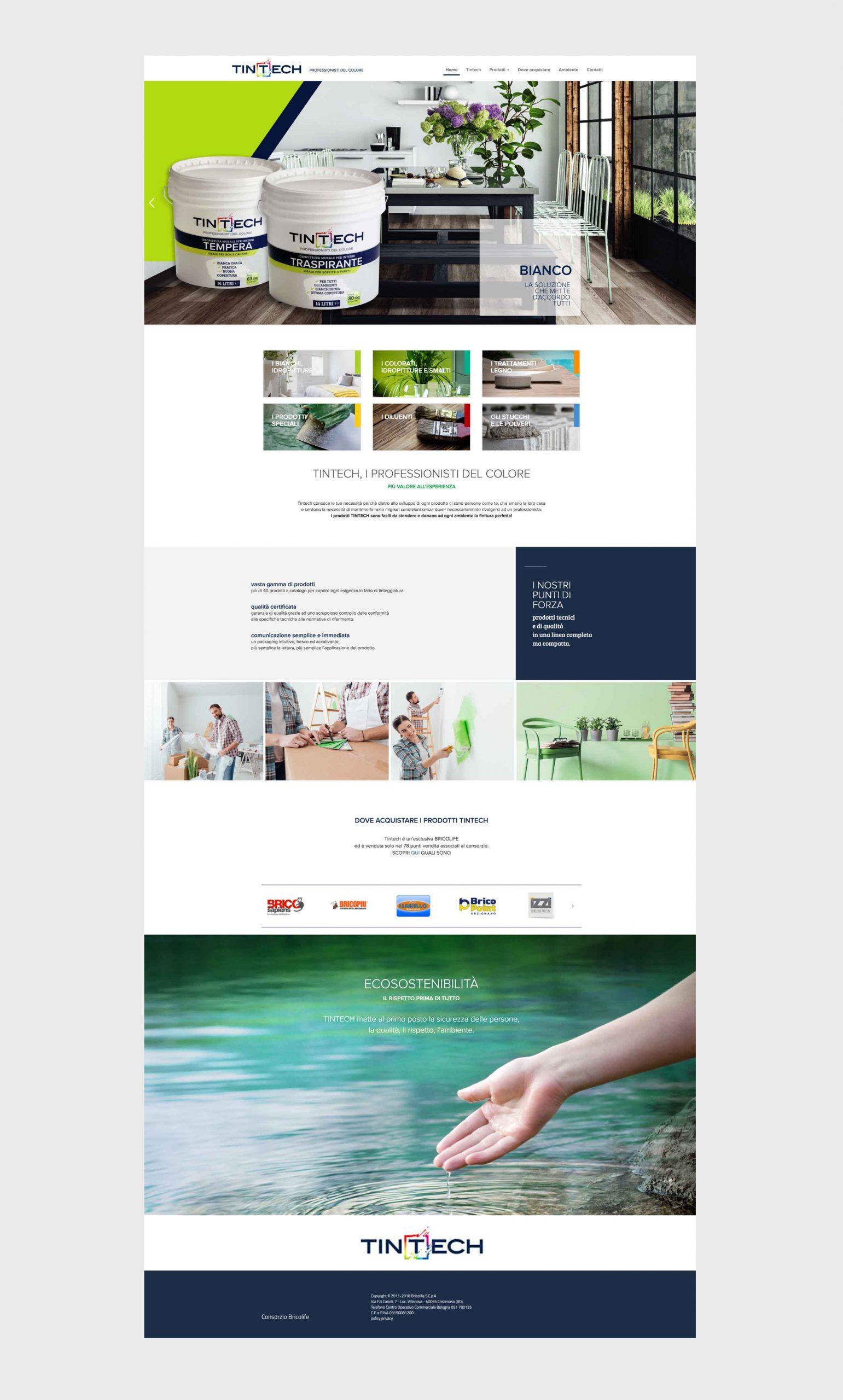 Mockup sito web Tintech