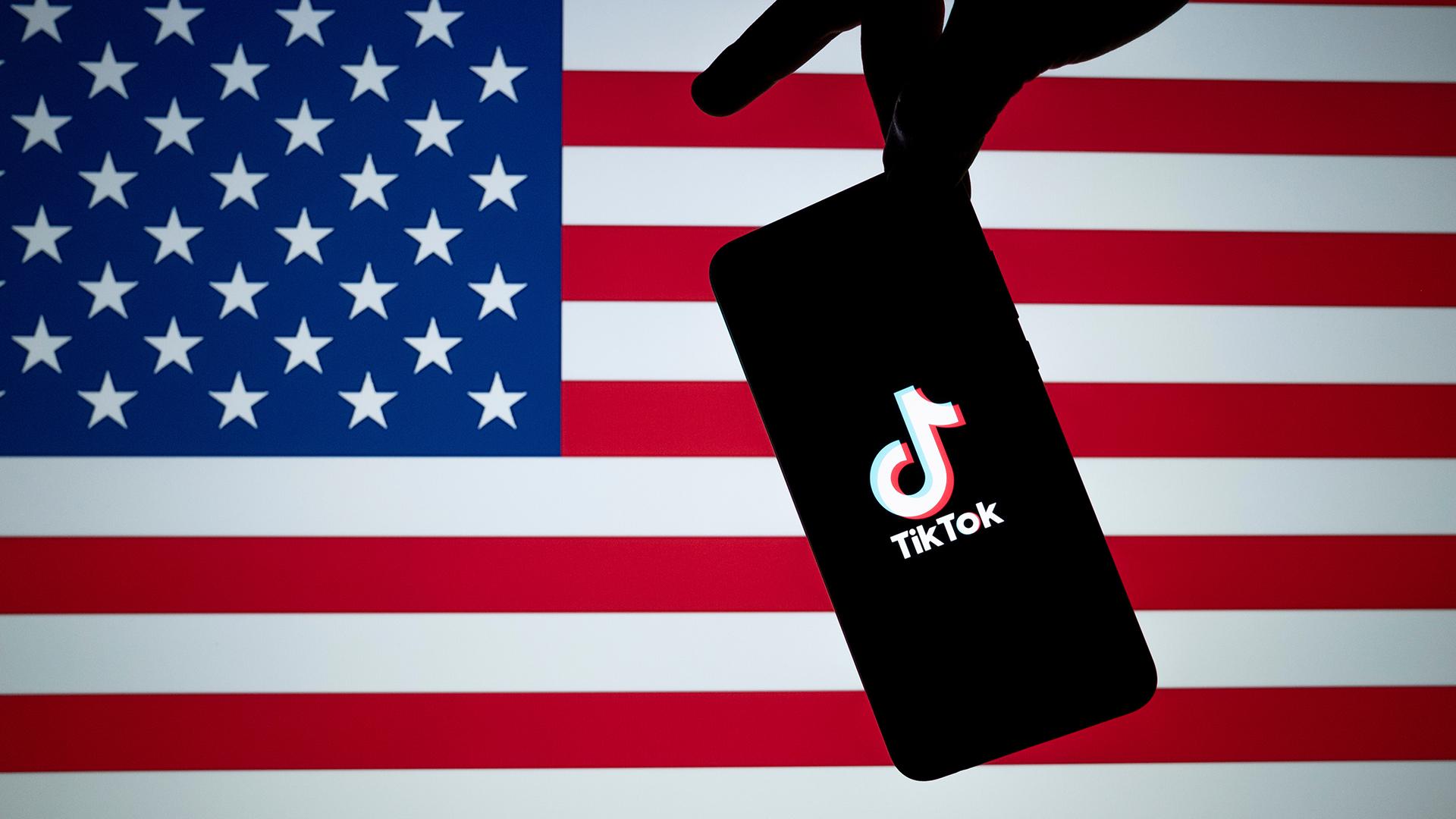 tiktok su bandiera americana