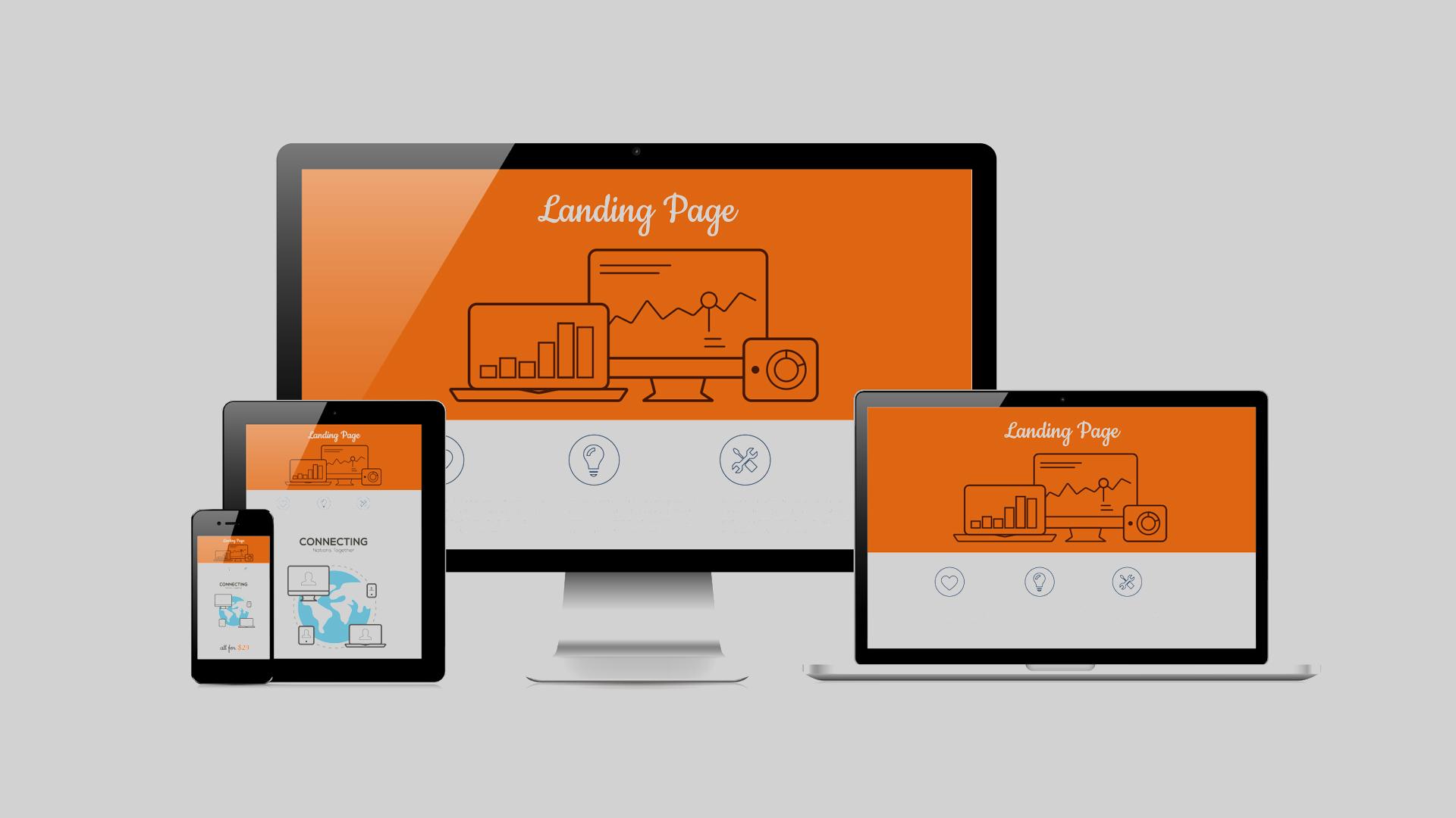 responsive landing page illustrazione