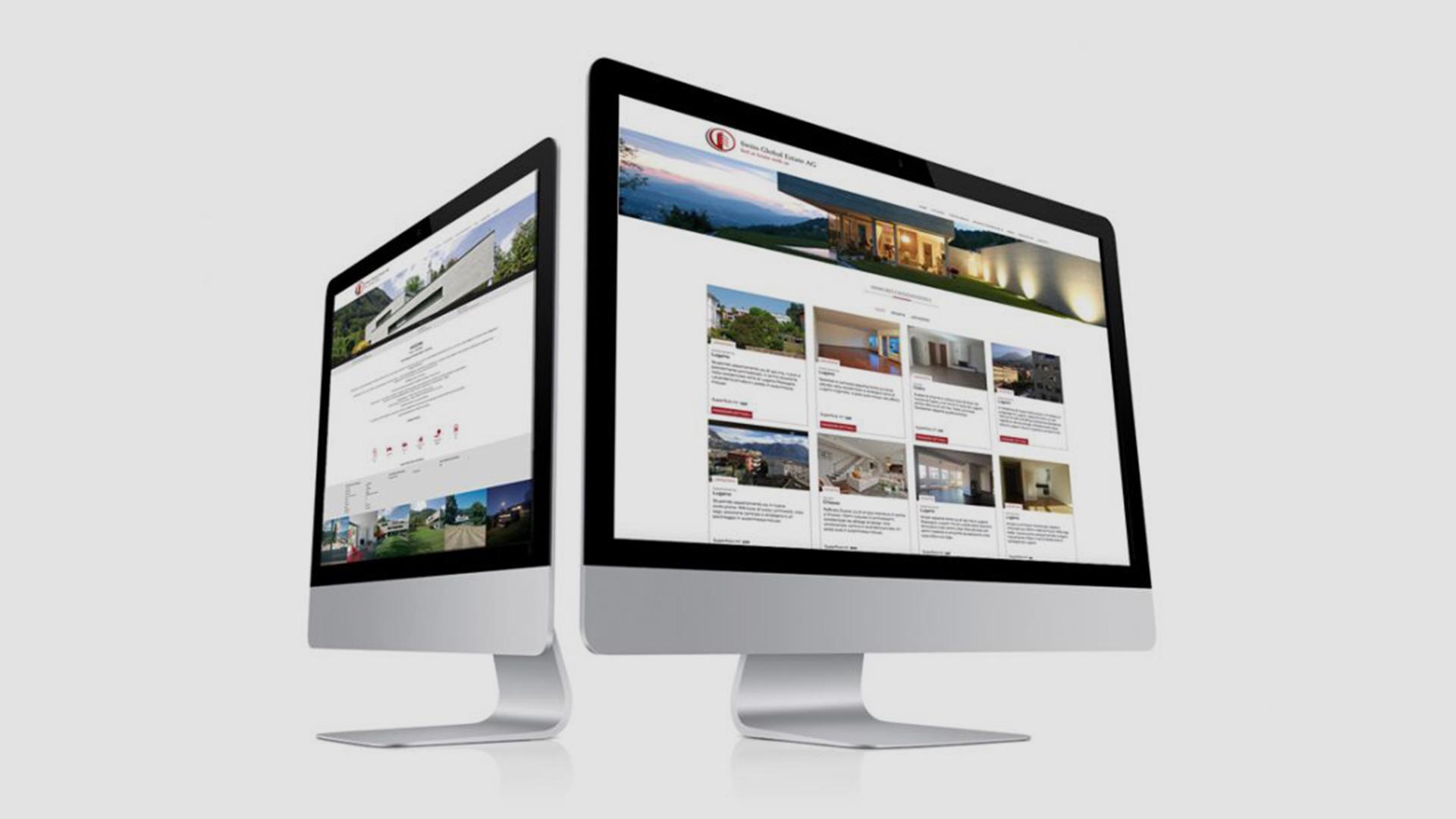 mockup sito web Swiss Global