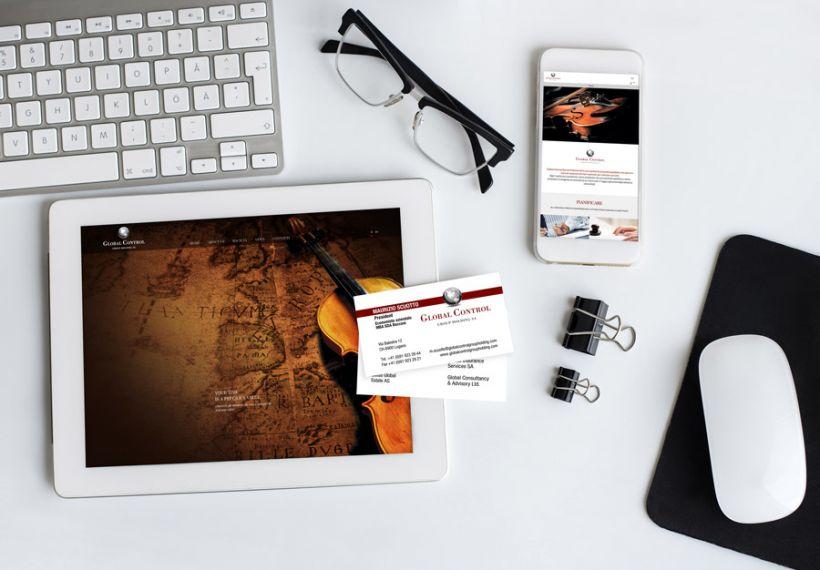 sito web e biglietti da visita Global Control